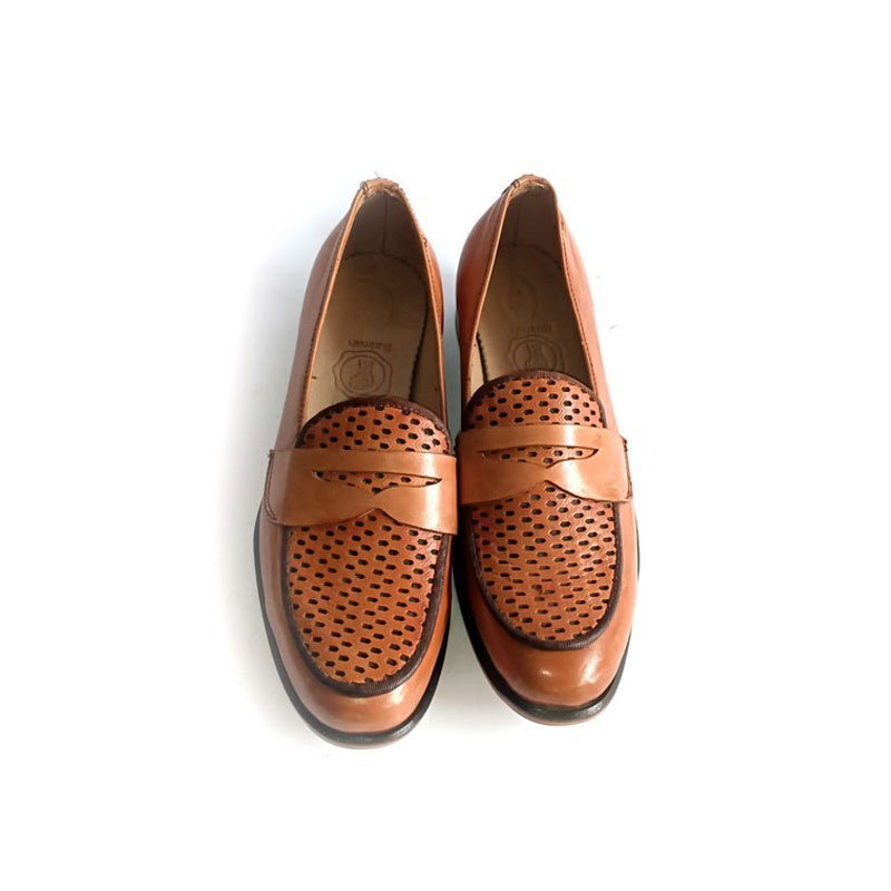 Knitted Top Leather Shoes