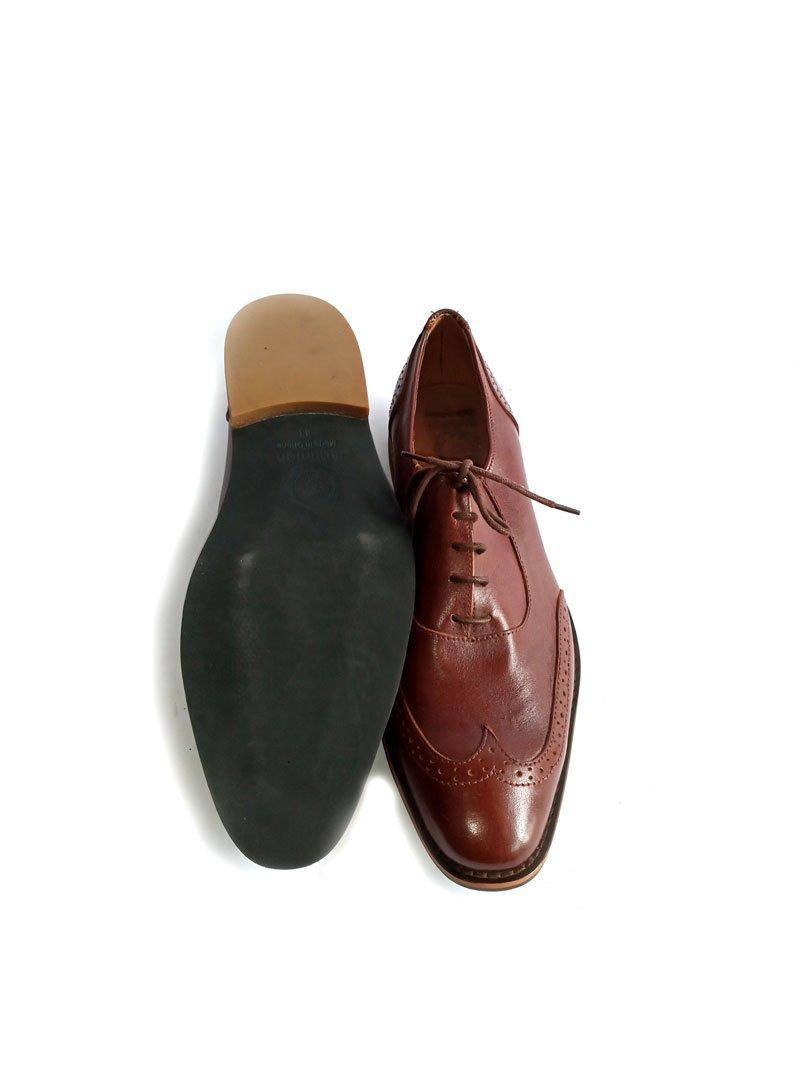men leather brown shoe1