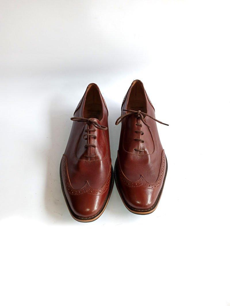 men leather brown shoe3