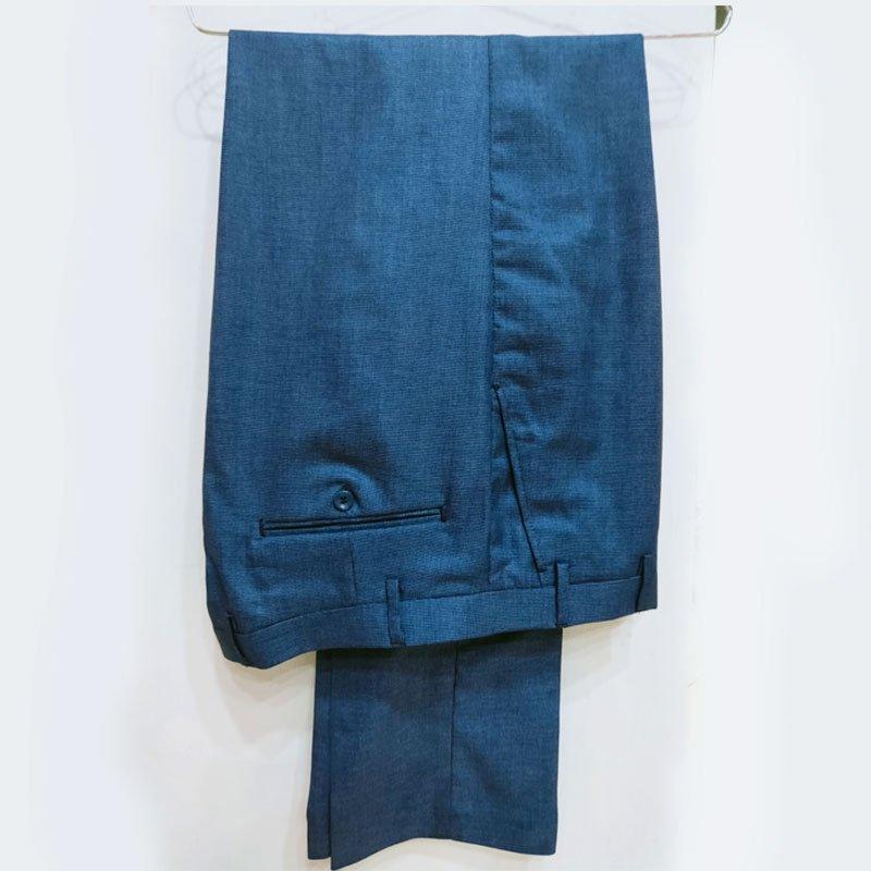 Navy blue suit down
