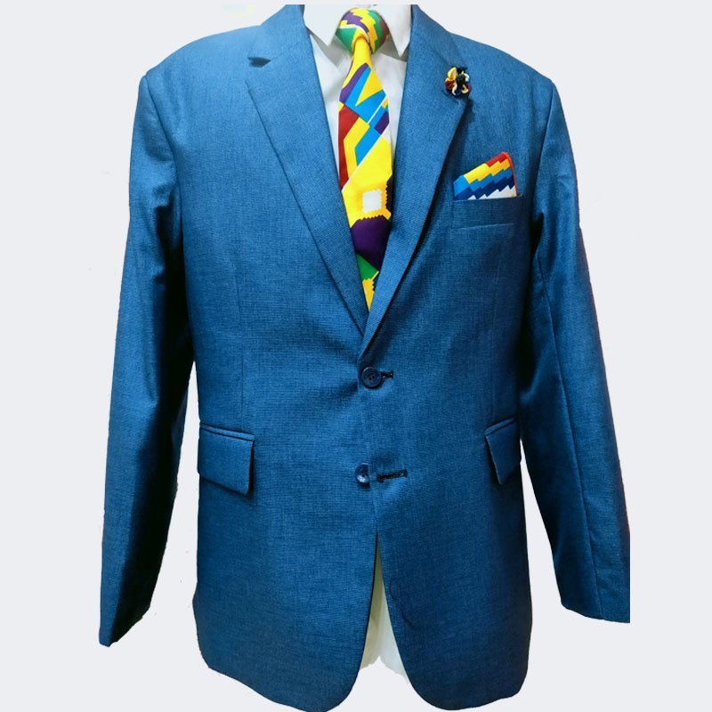Navy blue suit front