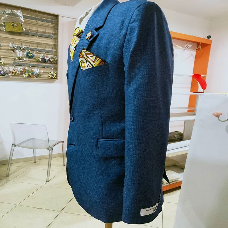Navy blue suit side