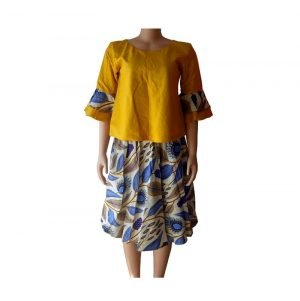african print top and down for ladies
