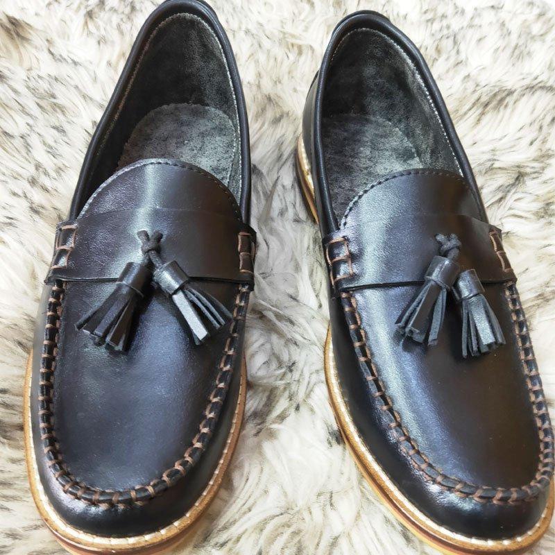 Ospba Black Slip On Shoe