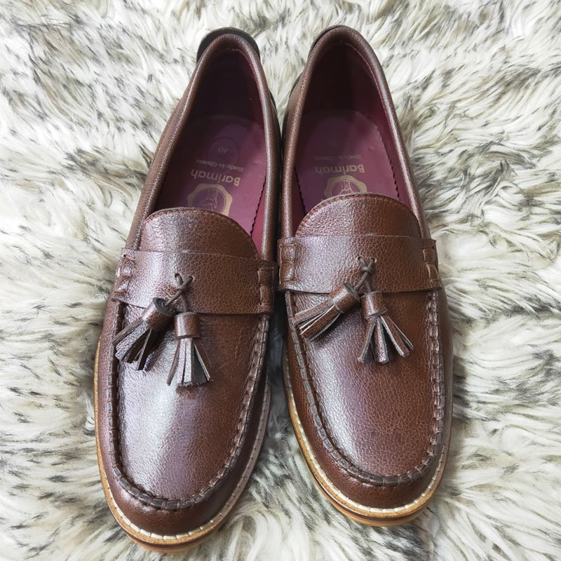 Barimah Brown Driver Loafers