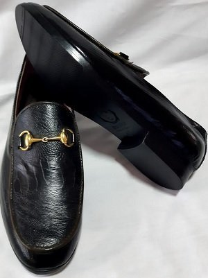 Gold Bit Leather Loafers.3