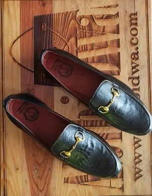 Gold Bit Leather Loafers.6